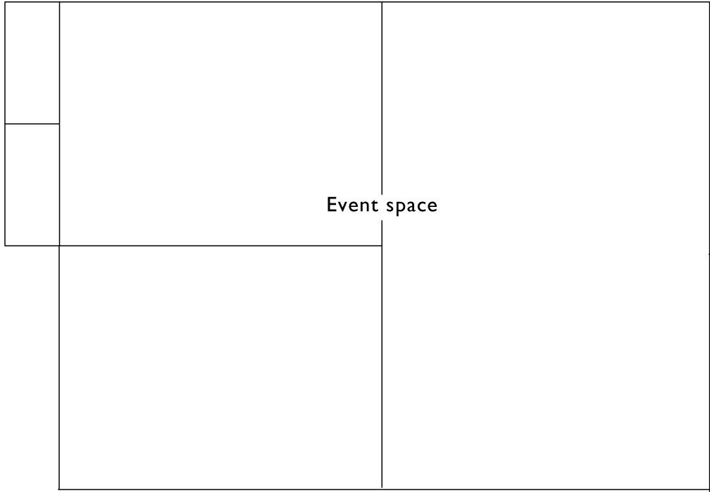 鍬と本 イベントスペースの間取り図